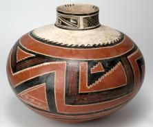 A Kayenta-style painted vessel excavated at Kinishba by Byron Cummings during the 1930s. Credit: Jannelle Weakly/Arizona State Museum - Over the years, the Kinishba ruins site was pulled apart by pot hunters and soldiers from Fort Apache seeking souvenirs. In 1892 Adolph Bandelier, a pioneering archaeologist, was the first European to write about the site, and other archeologists visited it.