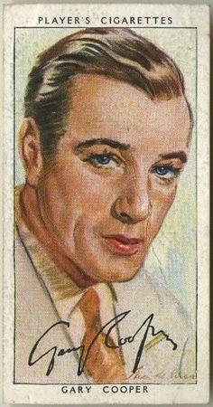 Gary Cooper ~ 1938 John Player & Sons Film Stars Tobacco Card, Series 3, #8 on Immortal Ephemera...