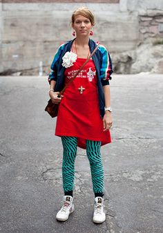 Finnish people may dress weird but they are awesome. (via Helsinki Looks)