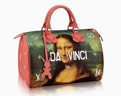 Collaboration between Jeff Koons and Louis Vuitton. Koons builds on his 2015 'gazing ball' series by emblazoning works by da Vinci, Rubens, and van Gogh on signature Vuitton pieces #arfashion