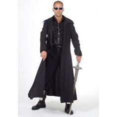 costume de déguisement manteau long noir homme, élégant et design qualité deluxe de Magic by Freddy's
