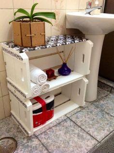 Móveis de banheiro feitos com palete: Veja as possibilidades para você criar seus próprios móveis para sua casa, inclusive para o banheiro.