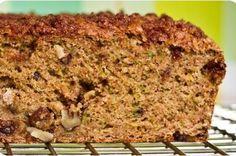 Vegan Zucchini Walnut Raisin Loaf with Cinnamon Streusel.  Should convert just fine with GF flour.