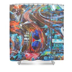 Shower Curtains - I Can Make You Slip Shower Curtain by Kevin J Cooper Artwork