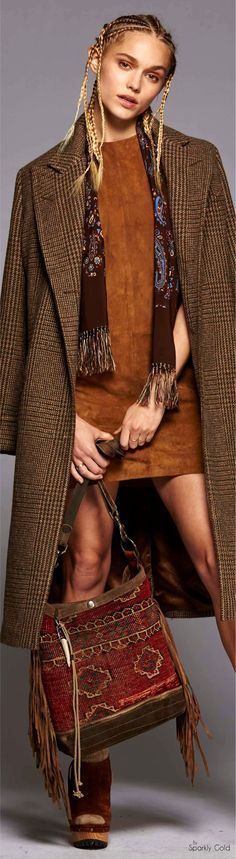 Polo Ralph Lauren Collection Fall 2016 Ready-to-Wear Fashion 2017, Love Fashion, Trendy Fashion, High Fashion, Autumn Fashion, Womens Fashion, Fashion Trends, Polo Ralph Lauren, Gypsy