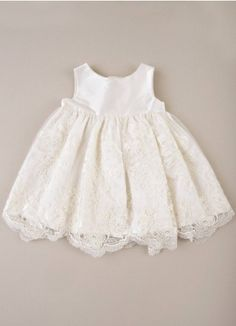 Becca Lace Christening Dress with Jacket | Baptism Dress for Baby Girls