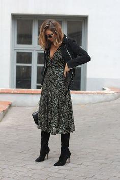 Look! Легкие струящиеся платья + сапоги! 5