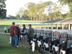 """Getting the golf carts in readiness for some serious golf competition! - in Ocala, the """"Black Friday Tough Day"""" charity golf tournament sponsored by Foundation Services Black Friday Golf, Tough Day, Central Florida, Golf Carts, Charity, Competition, Foundation, Foundation Series, Foundation Dupes"""