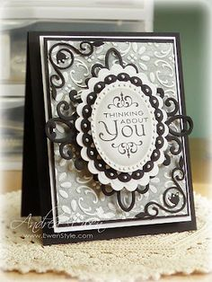 Heartfelt creations die to make a square, and the spellbinders ovals