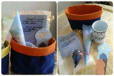 Coffret cadeaux pour maitresse Sachet papier bulle Tasse personnalisée Sachet dragées chocolat Aimants en fimo Marque pages du blog jasmine and co