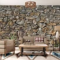 """Loon Peak® Chicopee Stone 8.4' L x 145.2"""" W Wall Mural & Reviews   Wayfair Garage Floor Mats, Egg Swing Chair, Tongue And Groove Panelling, Stone Siding, Faux Stone, Installation Art, Wall Murals, Cottage, Exterior"""