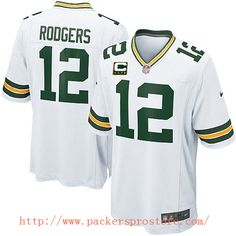 Nike NFL 12 Green Bay Packers Aaron Rodgers White Elite C Patch Youth Jersey  Packers Gear f43dda793