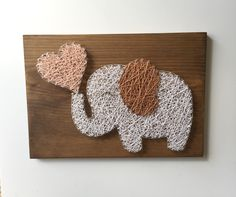 Elephant String Art Board
