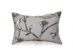 Vintage Grey Lumbar Pillow-Home And Garden Design Ideas
