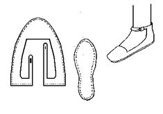 Ankle Latched Shoe (c1000-1200) Historical Shoe Designs/Number 24 http://www.personal.utulsa.edu/~marc-carlson/shoe/SHOES/SHOE24.HTM