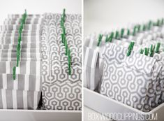 modern baby shower favors by boxwood clippings.