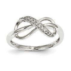 Infinity Rings - 14K White Gold Diamond Infinity Ring Available Exclusively at Gemologica.com