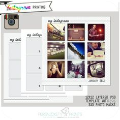 FREE Download: 12 x 12 Instagram printing template {for Photoshop}