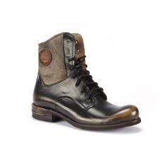 Pánské kožené vysoké boty COMODO E SANO v černo béžové barvě - manozo.cz Hiking Boots, Combat Boots, Shoes, Fashion, Moda, Zapatos, Shoes Outlet, Fashion Styles, Shoe