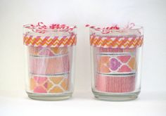 Candle Gift Set  6 Decorative Tea Light by ArtceteraGallery