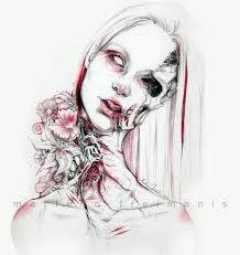 Resultado de imagen para macabre fashion sketch
