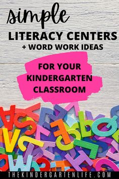 Blog post from thekindergartenlife.com! TONS of ideas and resources for your literacy centers! #kindergarten #literacy #thekindergartenlife.com Beginning Of Kindergarten, Kindergarten Rocks, Kindergarten Classroom, Kindergarten Activities, Word Work Activities, Spelling Activities, Teaching Phonics, Teaching Tools, Word Work Stations