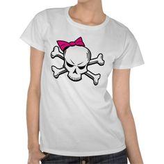 goth girly skull t shirt
