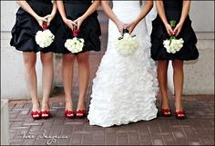 cute bridesmaids and bride shot