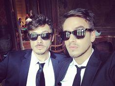 Tomas Fonzi (Maximo) y Stefano DeGregorio (Federico) en grabaciones de Esperanza Mia
