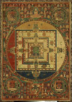 Kalachakra Mandala, Tibet, Museum of Fine Art, Boston Tibetan Mandala, Tibetan Art, Tibetan Buddhism, Buddhist Art, Vajrayana Buddhism, Alchemy Art, Thangka Painting, Sacred Art, Museum Of Fine Arts