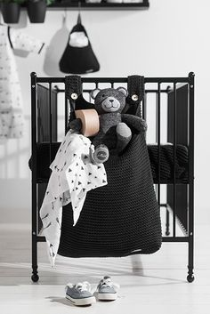 Jollein Boxopbergzak Heavy knit black #Babykamer #Boxopbergzak #Jollein
