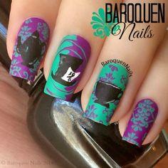 The Mad Hatter's Funky Tea Party nail art by BaroquenNails - Nailpolis: Museum of Nail Art Disney Inspired Nails, Disney Nails, Birthday Nail Designs, Birthday Nails, Birthday Design, Nail Designs Tumblr, Cool Nail Designs, Hair And Nails, My Nails