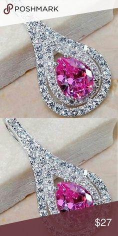 Spotted while shopping on Poshmark: New! . 925 White Topaz/Pink Sapphire Pendant! #poshmark #fashion #shopping #style #Jewelry