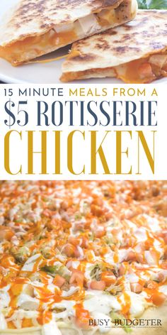 Easy Meals Using a Rotisserie Chicken - Family Meals - Dinner Recipes Quick Dinner Recipes, Easy Chicken Recipes, Recipe Chicken, Cheap Meals For Dinner, Quick Cheap Dinner Ideas, Easy Meals To Make, Quick Dinner For Kids, Quick And Easy Recipes, Easy Meal Ideas