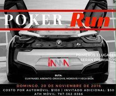 Damas y Caballeros, les presentamos el evento más esperado del mes: el Poker Run. Pronto daremos detalles del evento, pero, ¡anímense desde ya! ¿Tienes un carro que quieras sacar a pasear? This is your time to shine