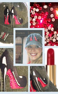 db7f275beb6 Our signature Christian Louboutin womens baseball cap. Denim And Diamonds