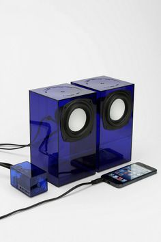 Speakers from found objects, like acrylic boxes from the container store