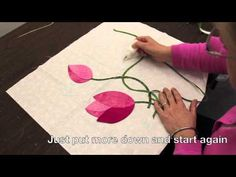 How to Make Perfect Appliqué Circles with Sarah Fielke, Quilting Instructor for Craftsy.com - YouTube
