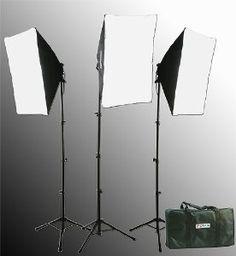 Amazon.com: 2400 Watt Softbox Lighting Kit Chromakey Green Screen Video Lighting Kit Three Softbox, 12 x 45watt Flourescent Bulb, 3 x lightstand by Fancier 9004S-3: Electronics