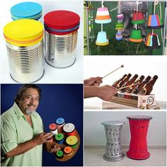 Instrumentos de percusión reciclados