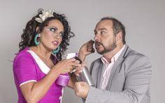 """Dadá Coelho e Beto Carramanhos estavam em cartaz, no Teatro Clara Nunes, com a comédia 'Corta!'  """"O fogo lambeu tudo"""", diz Dadá (Foto: Divulgação)"""