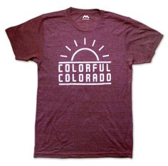 tee shirt from Mile High Clothing - colorful #colorado $27