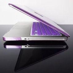 purple macbook cover =) ove my spek case - matches my iphone!