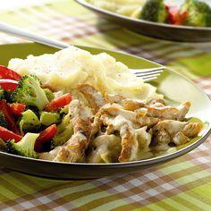 Kalkoenreepjes met aardappelpuree en broccoli | Gezonde Recepten | Weight Watchers