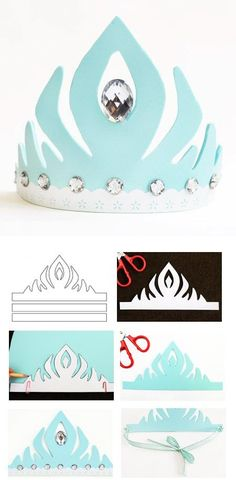 fabriquer une couronne reine des neiges: