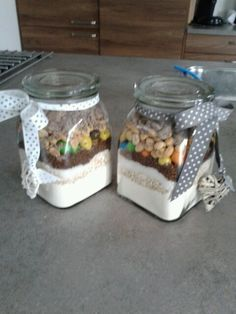 Selfmade cookie in a jar present..