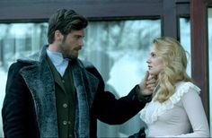 Kivanc Tatlitug as Seyit and Farah Zeynep Abdullah as Sura in the Turkish TV series Kurt Seyit ve Şura, 2014.