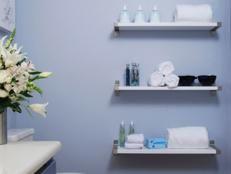 Cottage Bathroom Storage Cabinet | Bathroom Ideas & Design with Vanities, Tile, Cabinets, Sinks | HGTV
