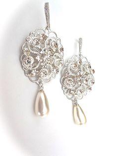 Pearl earrings Sterling silver posts by QueenMeJewelryLLC