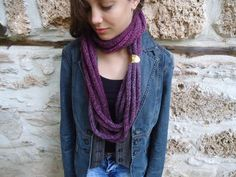 Scarf in soft wheat,Hand knitted warmer,scarf necklace,scarf infinity, cowl scarf.